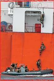 Aussie Clearance Divers recover the CPO China from Somali Pirates in Jan 2011 in the Gulf of Aden