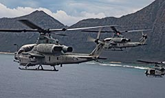 Hawaii based AH-1Z Zulu and UH-1Y Venom helos prepare to deploy to Australia before cancellation