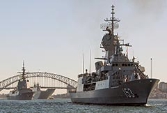RAN warships depart Fleet Base East