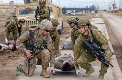 Task Group Taji X casualty evacuation training Iraq