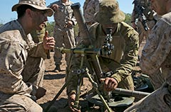 Australian M224A1 60mm mortar