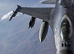 USAF F-16C over Afghanistan Nov 2019.