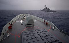 HMAS Brisbane and USS Preble off Hawaii