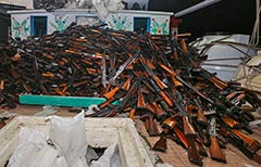 Iranian small arms seized by HMAS Darwin during CTF-150 ops in Fed 2016.
