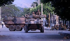 2 Cavalry Regt ASLAVS INTERFET Dili 24 September 1999