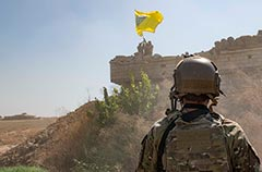 US Special Operations Forces observing Kurds destroy defences in northern Syria prior to Turkish invasion