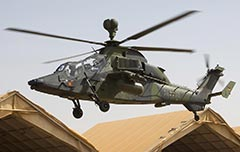 German Tiger UHT aerial fire support helicopter