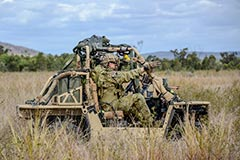 2 Commando Regt operating a Bale RTV during Talisman Sabre 19 Special Operations activities.
